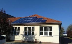 5 kW napelemes rendszer Kék község iskola