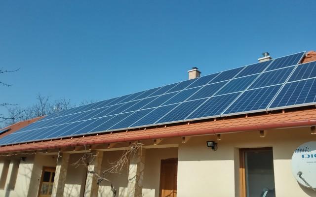 12,5 kW napelemes rendszer Tímár