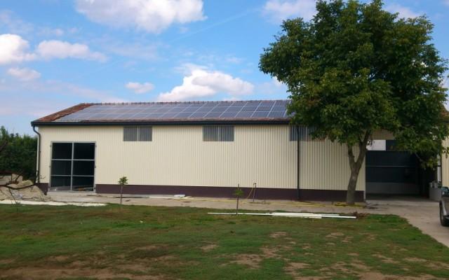 12 kW napelemes rendszer Geszteréd