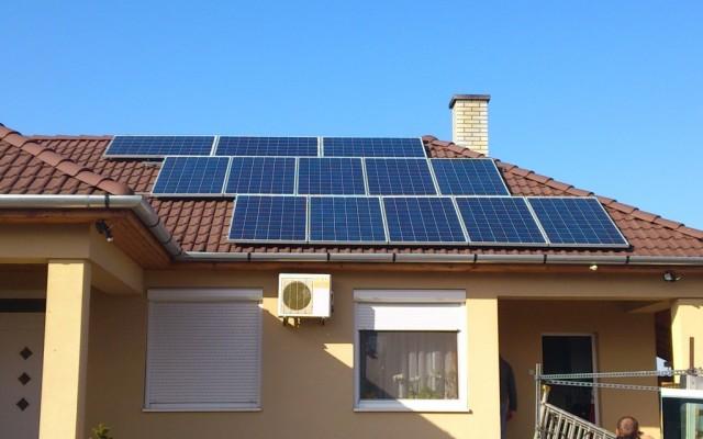 3,12 kW hálózatra tápláló napelemes rendszer