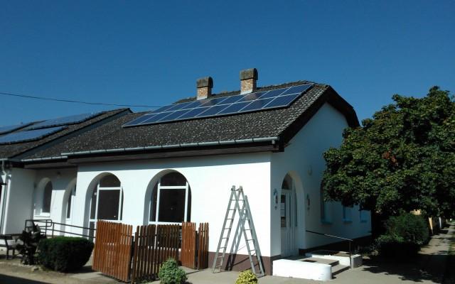 5 kW napelemes rendszer Bojt Községháza