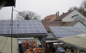 13,68 kW hálózatra tápláló napelemes rendszer