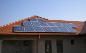 3,84 kW hálózatra tápláló napelemes rendszer
